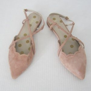 Boden Pink Suede Crisscross Strap Shoes 41 NEW